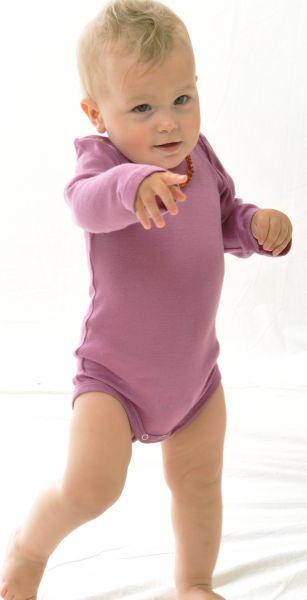 Baby-Body langarm BioWolle/BioSeide
