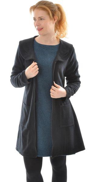 Leichtes Mantel-Kleid aus Seide-Wolle
