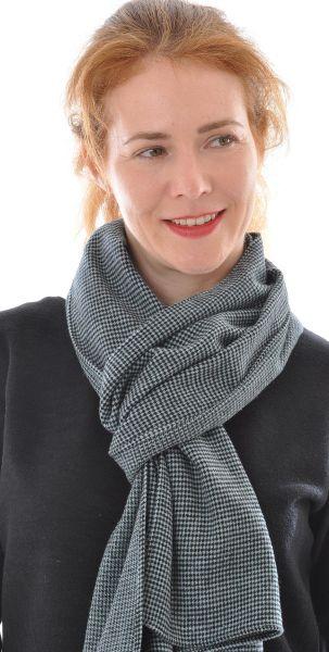 Schal aus Seide-Wolle